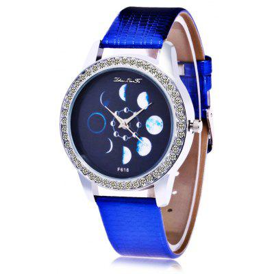 Women Moon Pattern Quartz Watch