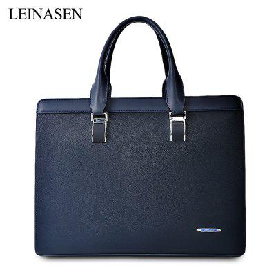 LEINASEN PU Leather Men Business Handbag Briefcase