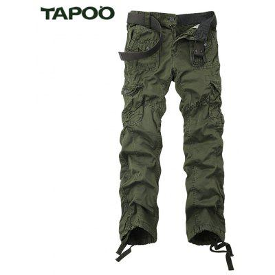 Buy BLACKISH GREEN Tapoo Casual Pleated Style Ankle Tied Long Full Pants for Men for $62.66 in GearBest store