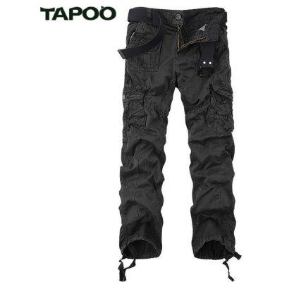 Buy CHARCOAL GRAY Tapoo Casual Pleated Style Ankle Tied Long Full Pants for Men for $62.66 in GearBest store