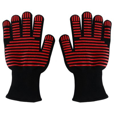 Pair of Heat-resistant Cut Resistance Safe Gloves Oven Mitts Kitchen Supplies