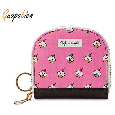 Guapabien Cute Small Item Patterns Mini Wallet Coin Purse for Girls