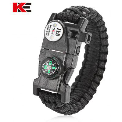 Buy BLACK EMAK Outdoor Multifunctional Paracord Bracelet for $2.85 in GearBest store