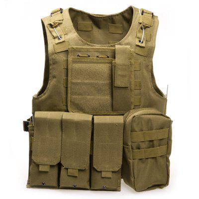 Amphibious Tactical Military Molle Waistcoat Combat Assault Plate Carrier Vest блокнот конструктор цвет желтый 8 см х 14 см 002750
