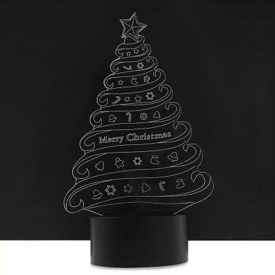 LED Colorful Christmas Tree Design USB 3D Night Light