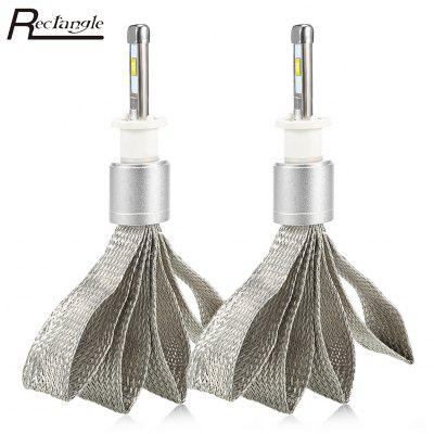 Rectangle T23910 H1 Pair of Car LED Headlight