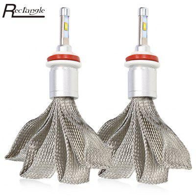 Rectangle T23901 H8 Pair of Car LED Headlight