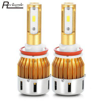 Rectangle T23906 H11 Pair of Car LED Headlight
