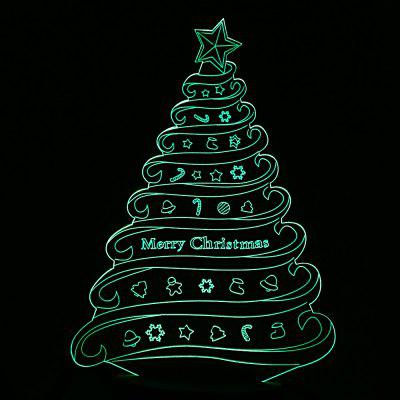 0off colorful christmas tree design usb 3d led night light - Christmas Tree Night Light