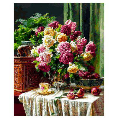 Bloomed Flower DIY Digital Oil Painting Set Wall Home Decor
