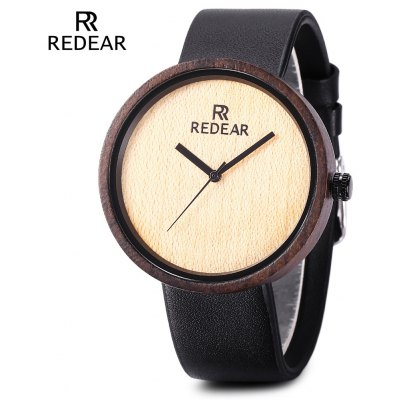 REDEAR SJ1647 Unisex Wooden Quartz Watch