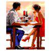 Dating Lovers Digital Ölgemälde Set Wall Home Decoration - COLORMIX