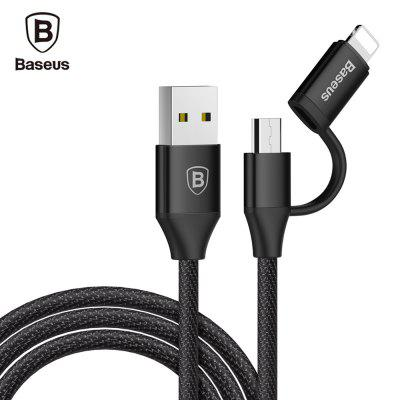 Baseus Yiven 2A 8 Pin Adapter Micro USB Data Cable 1M