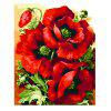 Red Flowers Digital Oil Hand Painting Wall Home Decor - COLORMIX