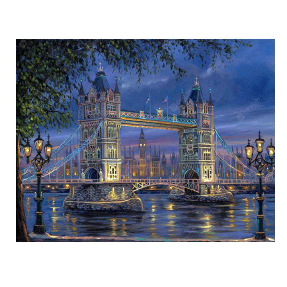 Bridge Architecture Digital Oil Peinture à la main Wall Home Decor