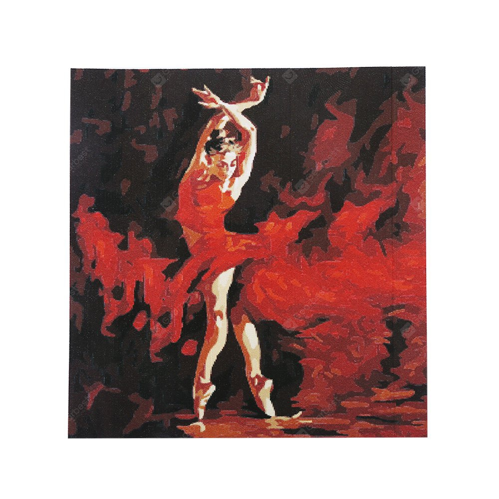 Elegant Dancer Digital Oil Hand Painting Wall Home Decor