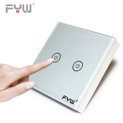 FYW Home Touch Remote Switch 2 Gang Intelligent Control Wall On - off Home Supplies