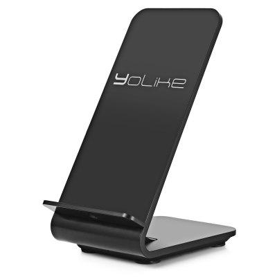 YoLike A8 10W Dual Coil Fast Qi Wireless Charging Pad StandChargers &amp; Cables<br>YoLike A8 10W Dual Coil Fast Qi Wireless Charging Pad Stand<br><br>Package Contents: 1 x Wireless Charger Stand, 1 x English User Manual<br>Package Size(L x W x H): 17.60 x 11.50 x 9.40 cm / 6.93 x 4.53 x 3.7 inches<br>Package weight: 0.2550 kg<br>Product Size(L x W x H): 13.20 x 9.00 x 7.00 cm / 5.2 x 3.54 x 2.76 inches<br>Product weight: 0.1650 kg