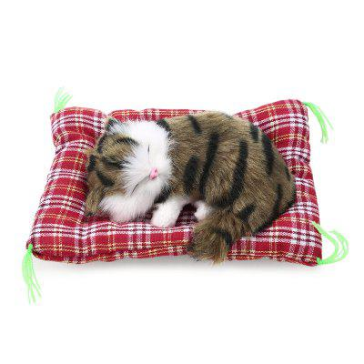 Simulation Sleeping Cat Toy with Cloth PadStuffed Cartoon Toys<br>Simulation Sleeping Cat Toy with Cloth Pad<br><br>Age: All Age<br>Feature Type: Chinese<br>Material: Cotton, Plush<br>Package Contents: 1 x Simulation Animal Would Call Pad Cat Nap Toy (Battery Included)<br>Package size (L x W x H): 14.00 x 11.00 x 7.00 cm / 5.51 x 4.33 x 2.76 inches<br>Package weight: 0.1000 kg<br>Product size (L x W x H): 13.00 x 10.00 x 6.00 cm / 5.12 x 3.94 x 2.36 inches<br>Product weight: 0.0600 kg