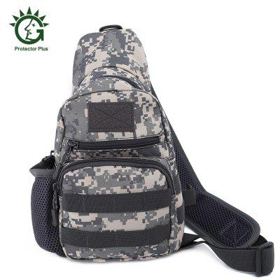 Protector Plus Wear-resistant Nylon Chest Pack Outdoor Sports Messenger Bag