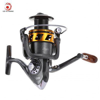 LIE YU WANG 13 + 1 Bearings Wooden Handle Fishing Spinning Reel 5.2 : 1