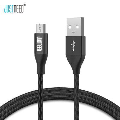 JUSTNEED Micro USB 2.4A Fast Charging Data Sync Cable 1M