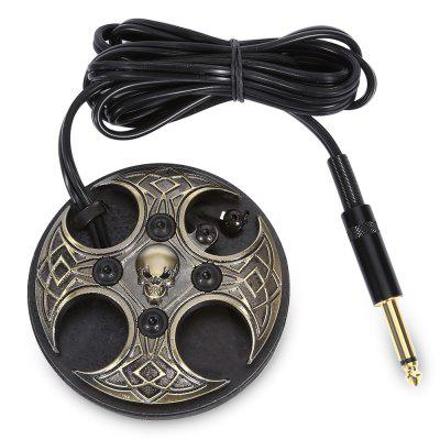 Alloy Skull Tattoo Machine Power Supply Foot Pedal Switch