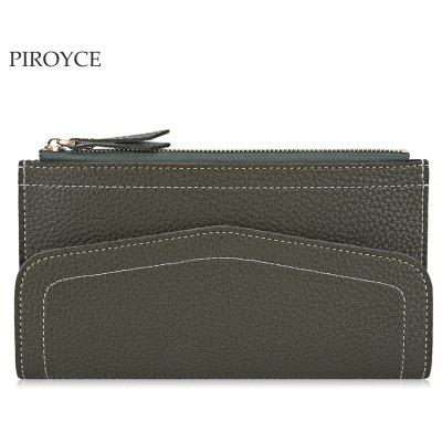 Piroyce Casual Card Holder Long Clutch Wallet for Women