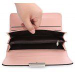 Baellerry Foldable Long Clutch Wallet Women Card Holder - BLACK