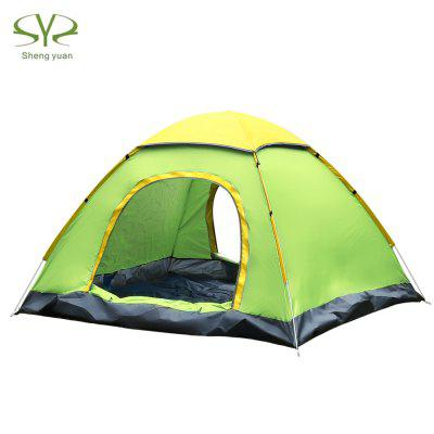 SHENGYUAN Instant Setup 3 - 4 Person Camping Tent with Canopy