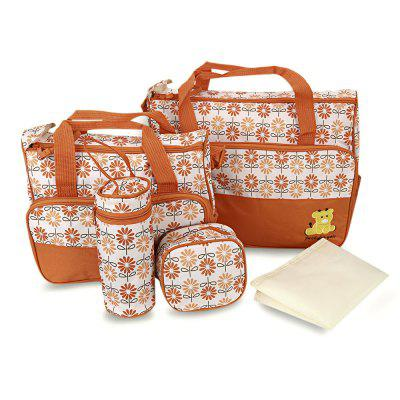 Zipper Multi-functional Print Baby Bottle Holder Diaper Bag Setmaternity bags<br>Zipper Multi-functional Print Baby Bottle Holder Diaper Bag Set<br><br>Gender: Women<br>Package Contents: 1 x Tote Bag, 1 x Small Handbag, 1 x Bottle Bag, 1 x Food Bag, 1 x Diaper Pad<br>Package size (L x W x H): 41.00 x 7.00 x 33.00 cm / 16.14 x 2.76 x 12.99 inches<br>Package weight: 0.9400 kg<br>Product weight: 0.8900 kg
