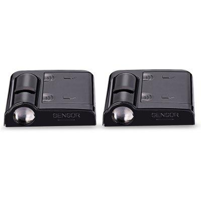 2PCS Wireless No Drill Type Ghost Shadow Light for BMW