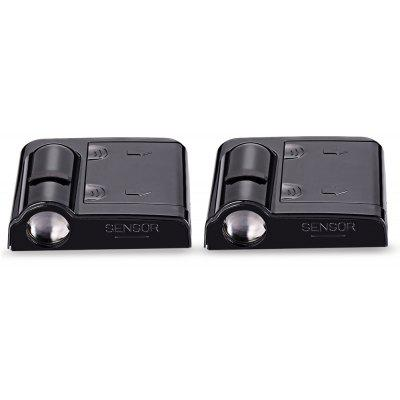 2PCS Wireless No Drill Type Ghost Shadow Door Light