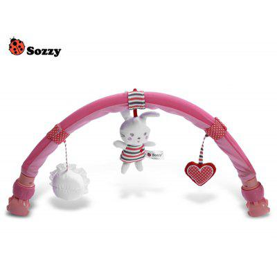 Sozzy Rabbit Shape Strollers Clip Toy