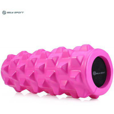 Buy DEEP PINK MILY SPORT PU Skin EVA Yoga Fitness Foam Roller Physio Block for $21.38 in GearBest store