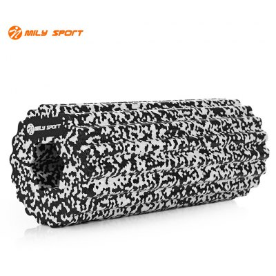 Buy WHITE AND BLACK MILY SPORT High Density Muscle Feet Yoga EPP Foam Roller for $6.53 in GearBest store