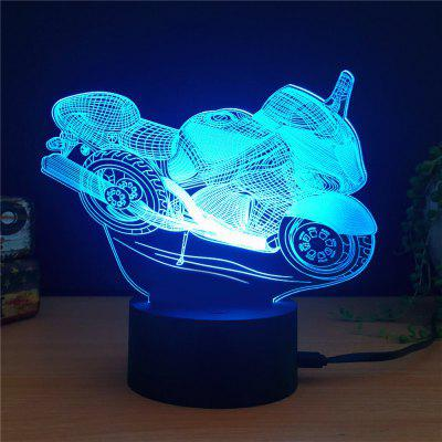 Colorful Motorcycle Shape 3D LED Table Lamp