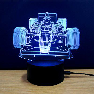 Colorful Racing Car Model 3D LED Table Lamp