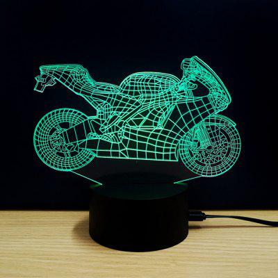 Colorful Motorcycle Model 3D LED Table Lamp