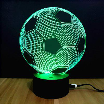 Colorful Football Model 3D lâmpada de mesa LED