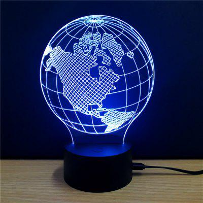 Colorful Earth Model 3D LED Table Lamp