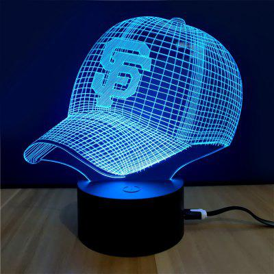 Colorful Cap Model 3D LED Table Lamp