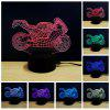 Colorful Motorcycle Model 3D LED Table Lamp - WHITE