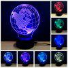 Colorful Earth Model 3D LED Table Lamp - WHITE