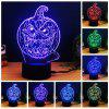 Colorful Pumpkin Model 3D LED Table Lamp - WHITE