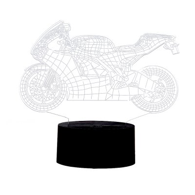 3D Colorful Motorcycle Model LED Table Lamp