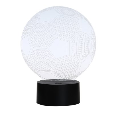 3D Colorful Football Model Table Lamp