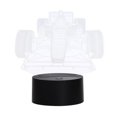 3D Colorful Racing Car Model Table Lamp