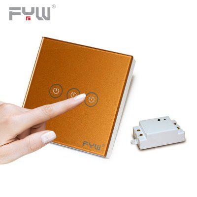 FYW Home Touch Remote Switch 3 Gang Intelligent Control Wall On - off