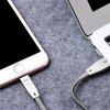 HOCO U11 2.4A Zinc Alloy Reflective Braided Cable for iPhone - SILVER